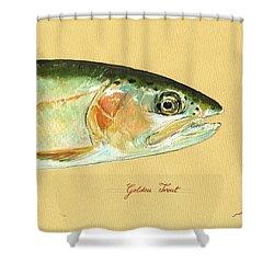 California Golden Trout Shower Curtain by Juan  Bosco