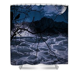 Caliginosity Shower Curtain by Lourry Legarde