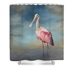 Call Me Rosy Shower Curtain by Kim Hojnacki