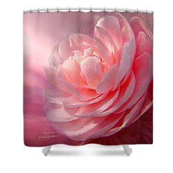 Camellia Shower Curtain by Carol Cavalaris
