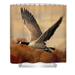Canadian Air Shower Curtain by Donna Kennedy