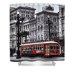 Canal Street Trolley Shower Curtain by Tammy Wetzel