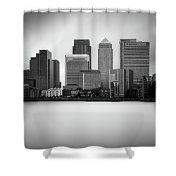 Canary Wharf II, London Shower Curtain by Ivo Kerssemakers