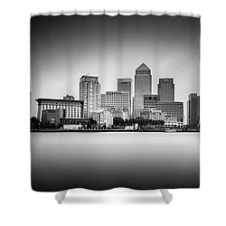 Canary Wharf, London Shower Curtain by Ivo Kerssemakers