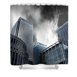 Canary Wharf Shower Curtain by Martin Newman
