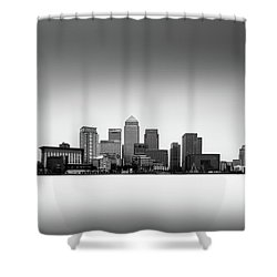 Canary Wharf Skyline Shower Curtain by Ivo Kerssemakers