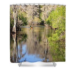 Canoeing On The Hillsborough River Shower Curtain by Carol Groenen