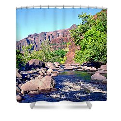 Canyon River  Shower Curtain by Kevin Smith