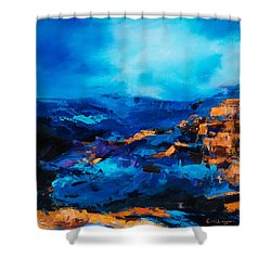 Canyon Song Shower Curtain by Elise Palmigiani