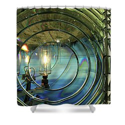 Cape Blanco Lighthouse Lens Shower Curtain by James Eddy