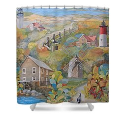 Cape Cod Shower Curtain by Ezartesa Art
