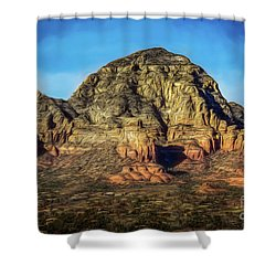 Capital Butte Shower Curtain by Jon Burch Photography
