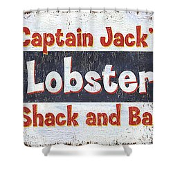Captain Jack's Lobster Shack Shower Curtain by Debbie DeWitt