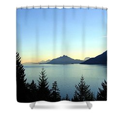 Captivating Howe Sound Shower Curtain by Will Borden