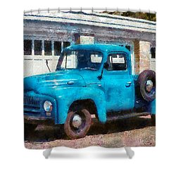 Car - Truck - An International Old Truck Shower Curtain by Mike Savad