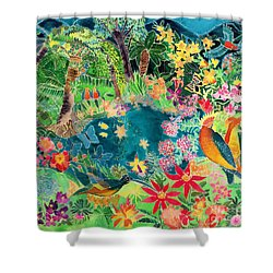 Caribbean Jungle Shower Curtain by Hilary Simon