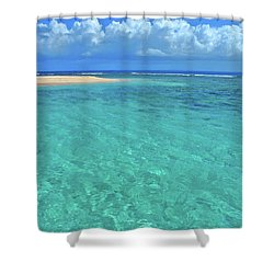 Caribbean Water Shower Curtain by Scott Mahon