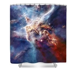 Carina Nebula Pillar Shower Curtain by The  Vault - Jennifer Rondinelli Reilly