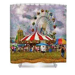 Carnival - Look At All The Excitement Shower Curtain by Mike Savad