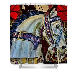 Carousel Horse - 7 Shower Curtain by Paul Ward