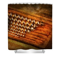 Carpenter - Auger Bits  Shower Curtain by Mike Savad