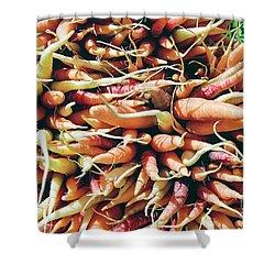 Carrots Shower Curtain by Ian MacDonald