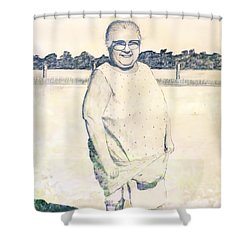 Carrying Eggs Shower Curtain by Brian Wallace