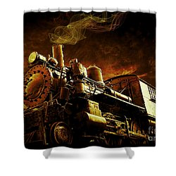 Casey Jones And The Cannonball Express Shower Curtain by Edward Fielding