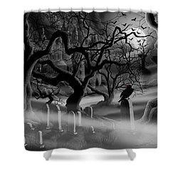 Castle Graveyard I Shower Curtain by James Christopher Hill