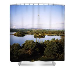 Castleisland Lough Key Forest Park Shower Curtain by The Irish Image Collection