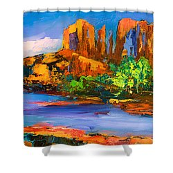 Cathedral Rock Afternoon Shower Curtain by Elise Palmigiani