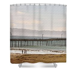 Caycous Pier II Shower Curtain by Sharon Foster
