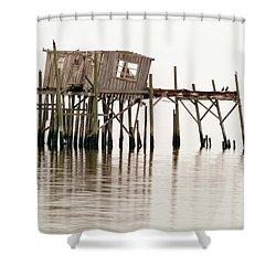 Cedar Key Structure Shower Curtain by Patrick M Lynch