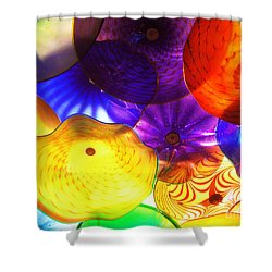 Celestial Glass 3 Shower Curtain by Xueling Zou