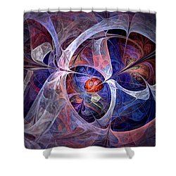 Celestial North - Fractal Art Shower Curtain by NirvanaBlues