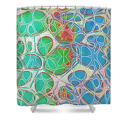 Cell Abstract 10 Shower Curtain by Edward Fielding