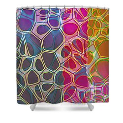 Cell Abstract 11 Shower Curtain by Edward Fielding