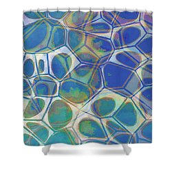 Cell Abstract 13 Shower Curtain by Edward Fielding