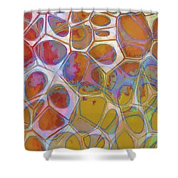 Cell Abstract 14 Shower Curtain by Edward Fielding