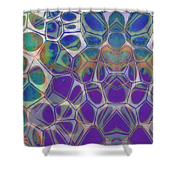 Cell Abstract 17 Shower Curtain by Edward Fielding