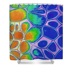Cell Abstract 2 Shower Curtain by Edward Fielding