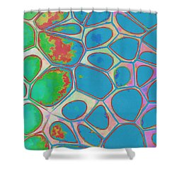 Cells Abstract Three Shower Curtain by Edward Fielding