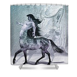 Centaur Cool Tones Shower Curtain by Quim Abella
