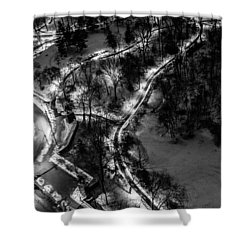 Shower Curtain featuring the photograph Central Park Trails by M G Whittingham