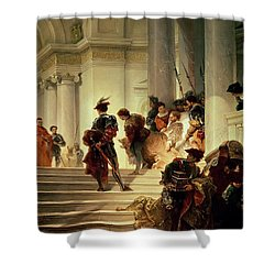 Cesare Borgia Leaving The Vatican Shower Curtain by Giuseppe Lorenzo Gatteri