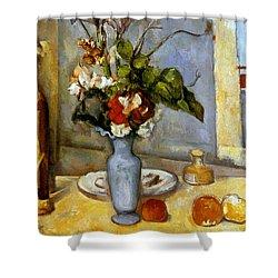 Cezanne: Blue Vase, 1885-87 Shower Curtain by Granger