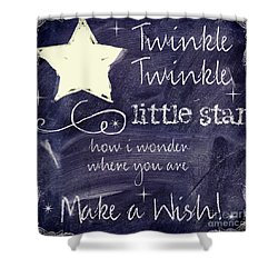 Chalk Board Nursery Rhymes Shower Curtain by Mindy Sommers