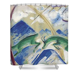 Chamois Shower Curtain by Franz Marc