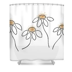 Chamomile Shower Curtain by Frank Tschakert