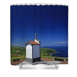 Chapel Shower Curtain by Gaspar Avila
